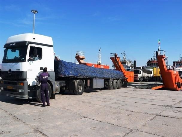 کرایه کامیون مجهز حمل بار خلیج فارس